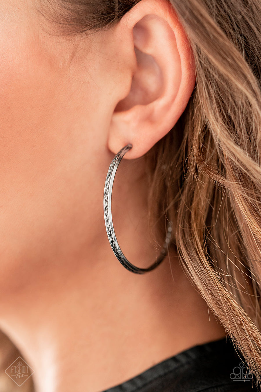 Texture Tempo - Silver Earrings