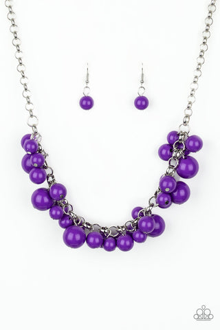 Walk This BROADWAY Purple Necklace Paparazzi Accessories