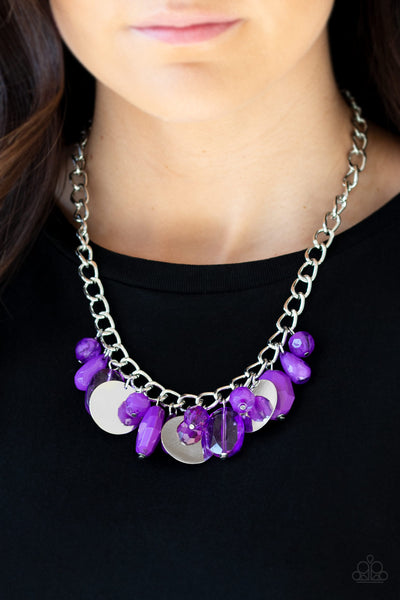 Treasure Shore Purple Necklace Paparazzi Accessories