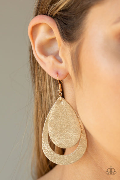 Fiery Firework - Gold Earrings