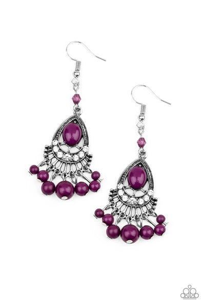 Floating On HEIR Purple Paparazzi Accessories Earrings