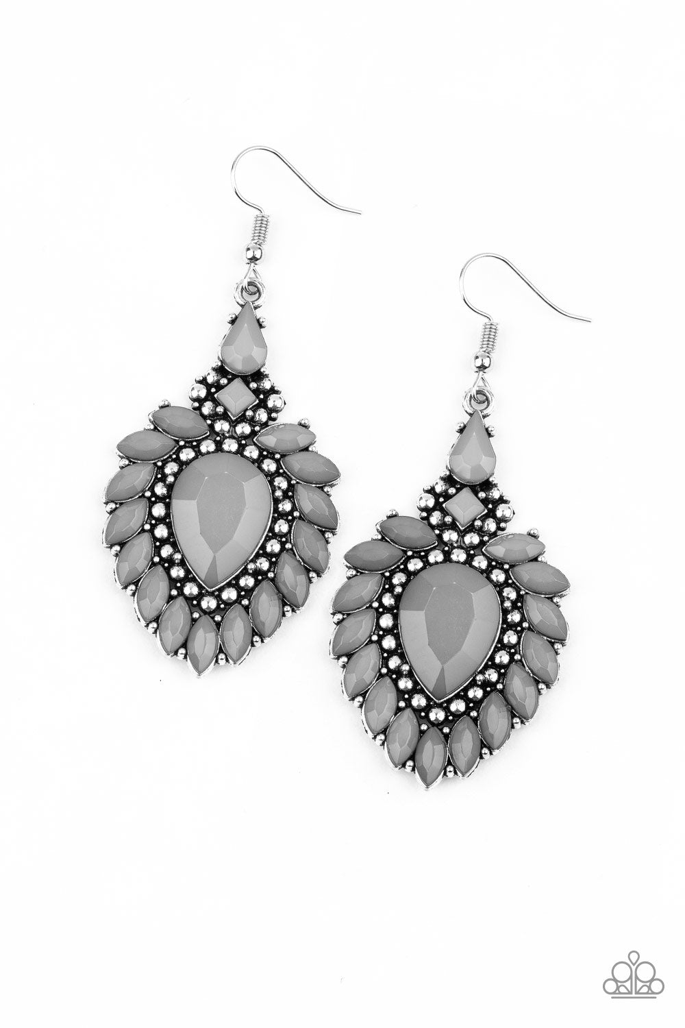 The LIONESS Den Silver Paparazzi Earrings