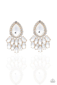 A Breath of Fresh HEIR - Gold Earrings Parazzi Accessories