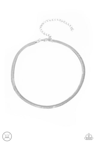 Serpentine Sheen - Silver Choker