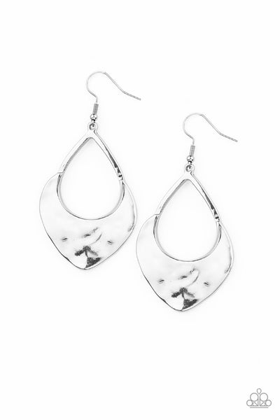 Dig Your Heels In - Silver Earrings