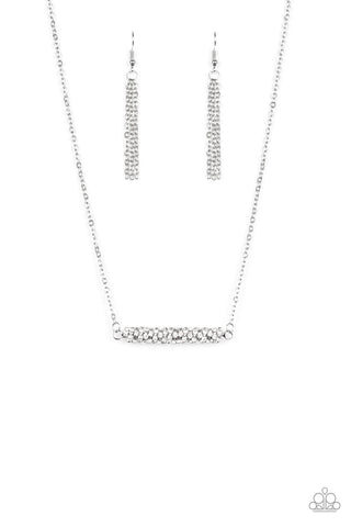 Timelessly Twinkling White Paparazzi Necklace