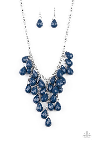 Serenely Scattered - Blue Necklace