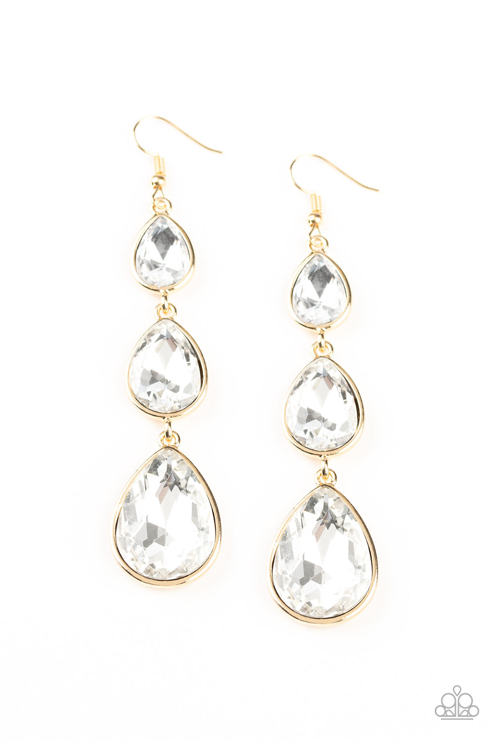 Metro Momentum Gold Earrings Paparazzi Accessories