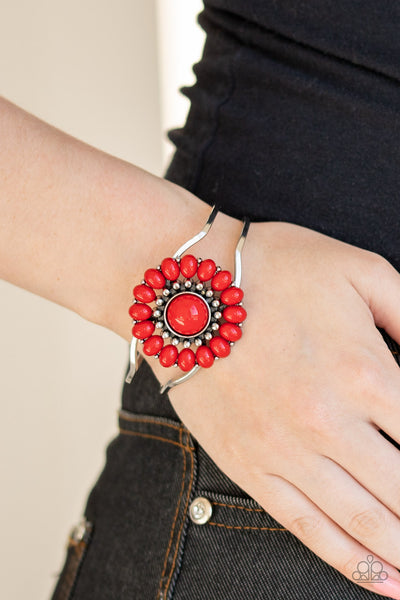 Posy Pop Red Bracelet Paparazzi Accessories