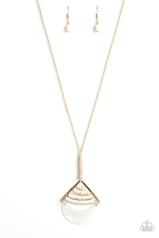 Beach Beam Gold Paparazzi Accessories Necklace