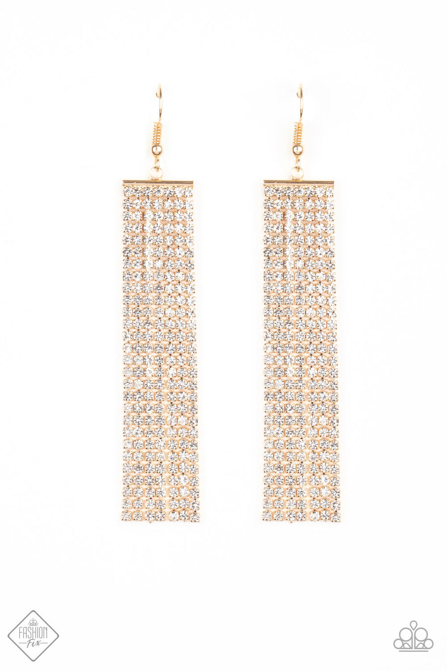 Top-Down Shimmer - Gold Earrings