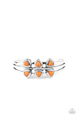Tribal Triad - Orange Bracelet