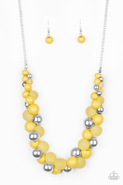 Bubbly Brilliance Yellow Necklace Paparazzi Accessories