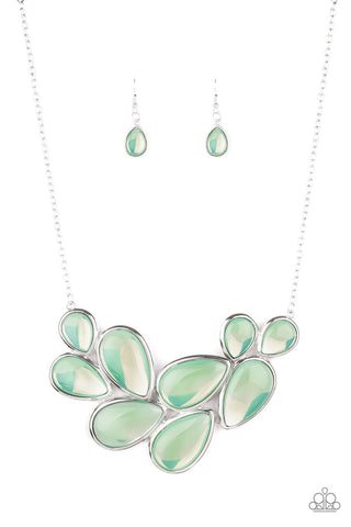 Iridescently Irresistible Green Necklace Paparazzi Accessories