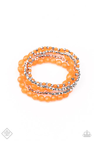 Glimpses of Malibu Sugary Sweet - Orange Bracelet