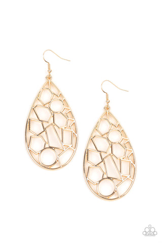 Reshaped Radiance - Gold Earrings
