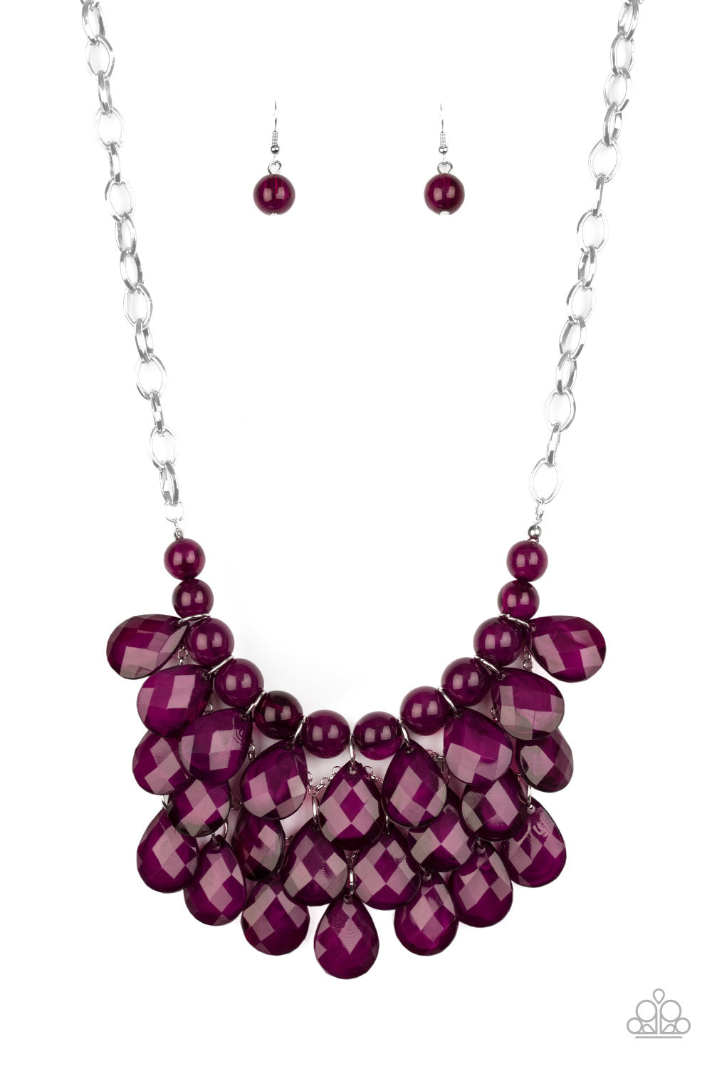 Sorry To Burst Your Bubble Purple Necklace Paparazzi Accessories