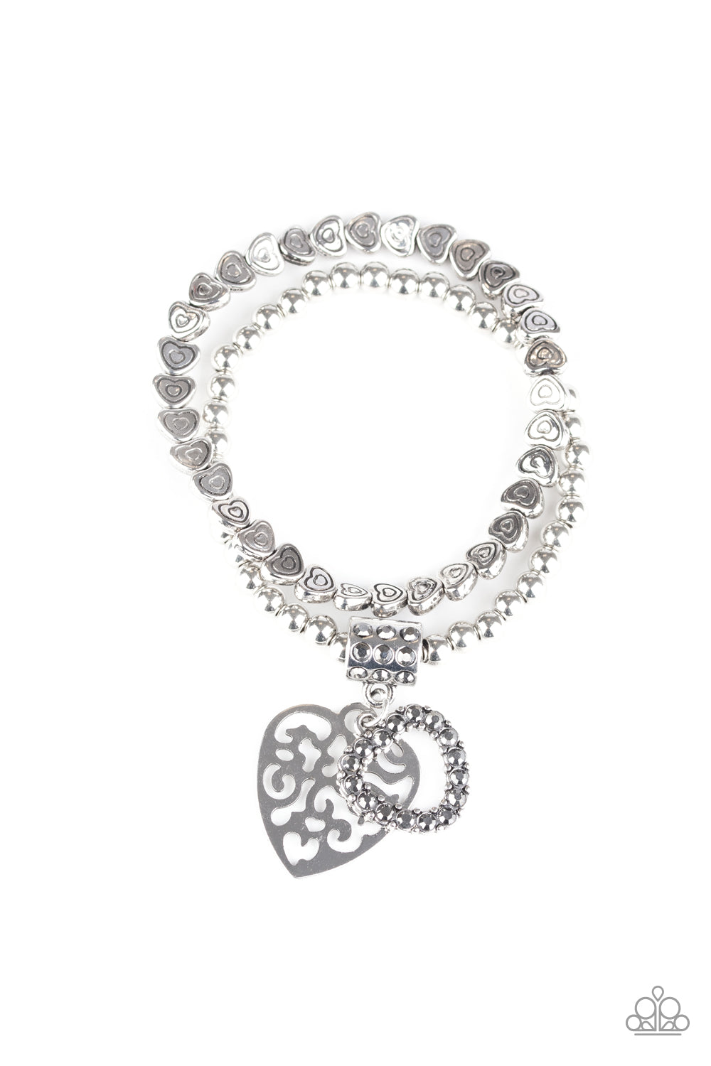 Think With Your Heart Silver Paparazzi Accessories Bracelet