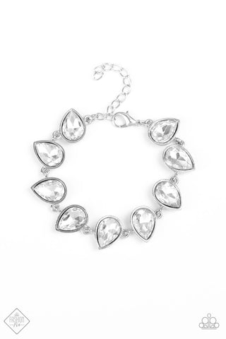 Fiercely 5th Avenue Free Rein - White Bracelet