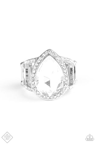 Fiercely 5th Avenue BLINGing Down The House - White Ring