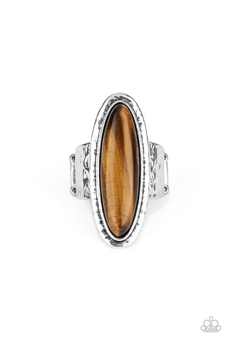 Stone Mystic Brown Ring Paparazzi Accessories