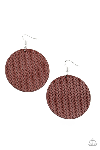 WEAVE Your Mark Red Paparazzi Earrings