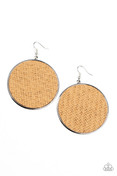 Wonderfully Woven - Brown Earrings