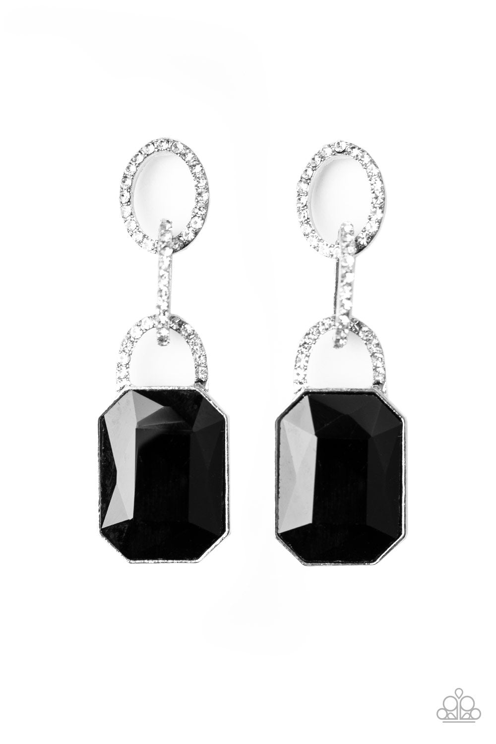 Superstar Status Black Earrings Paparazzi Accessories