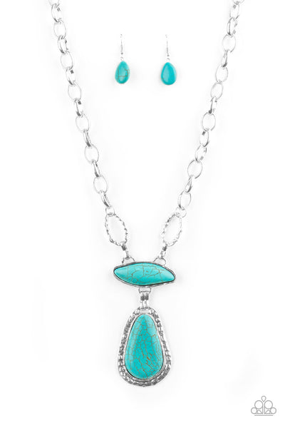 Rural Rapture Blue Necklace Paparazzi Accessories