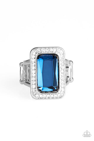 Crown Jewel Jubilee Blue Ring Paparazzi Accessories