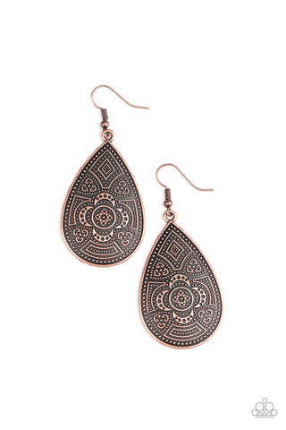 Tribal Takeover - Copper Earrings