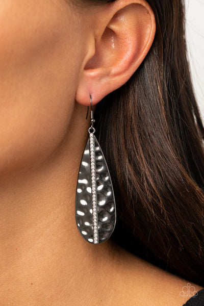 On The Up and UPSCALE - Black Earrings