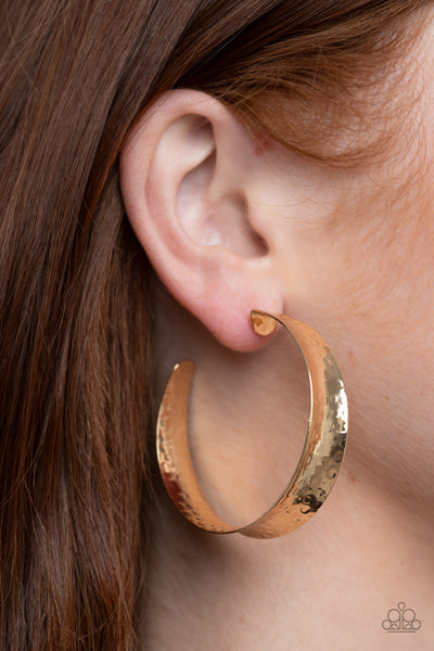 Fearlessly Flared - Gold Earrings