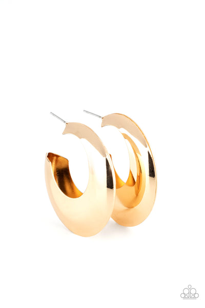 Chic CRESCENTO - Gold Earrings