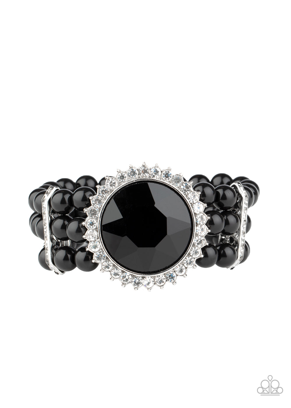 Speechless Sparkle - Black Bracelet