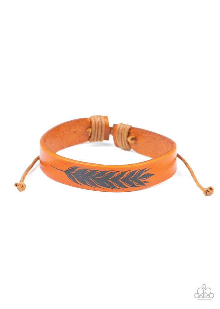 This QUILL All Be Yours - Brown Bracelet