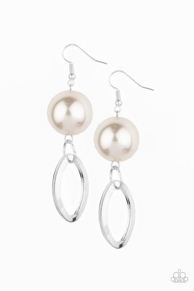 Big Spender Shimmer - White Earrings