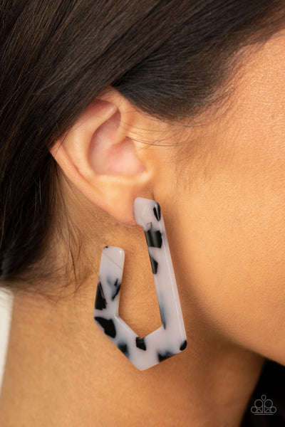 Flat Out Fearless - White Earrings
