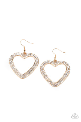 GLISTEN To Your Heart - Gold Earrings