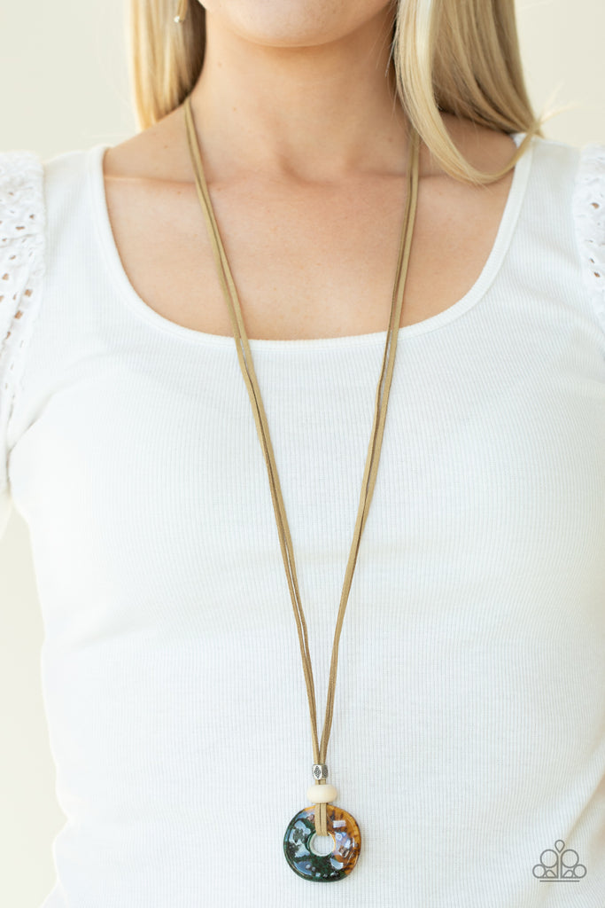 Primal Paradise - Brown Paparazzi Necklace