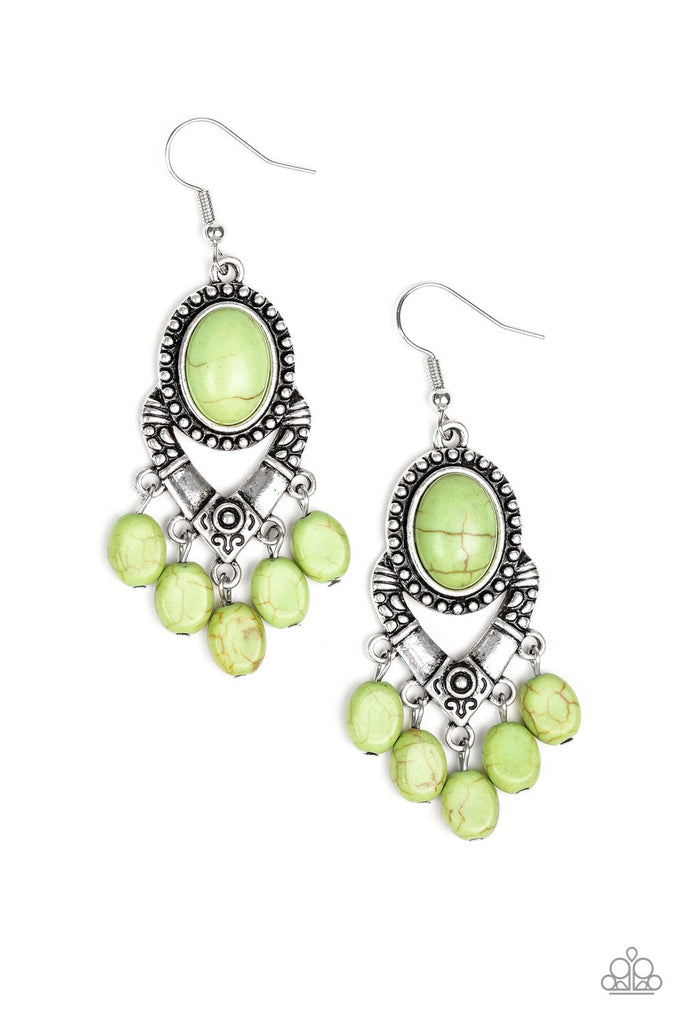 Southern Sandstone - Green Earrings