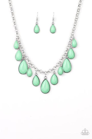 Jaw-Dropping Diva - Green Necklace