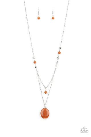 Time To Hit The ROAM - Orange Necklace