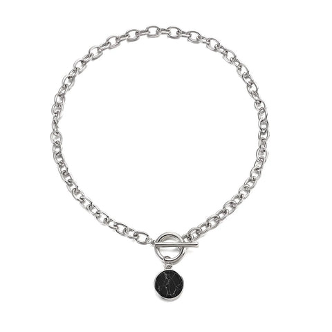 Toggle Me This - Black Necklace
