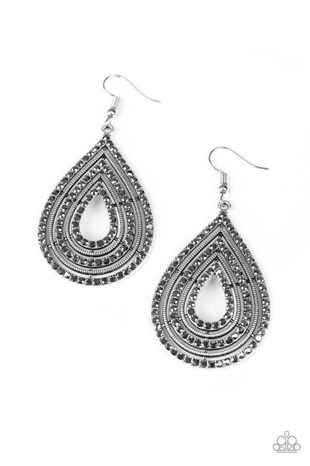 5th Avenue Attention - Silver Earrings