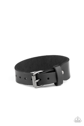 Tougher Than Leather - Black Bracelet