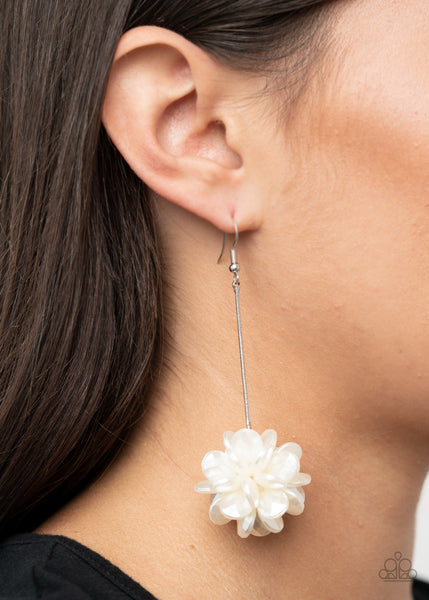 Swing Big - White  Earrings