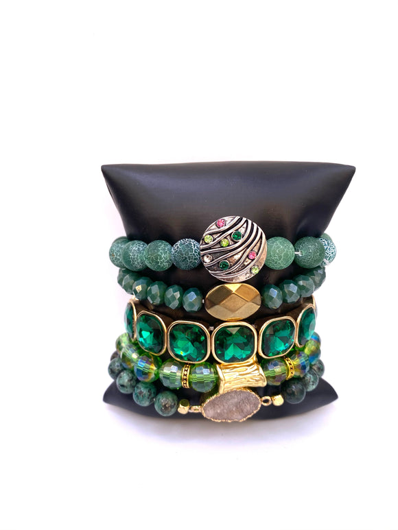 Balance and Harmony - Green Bracelets