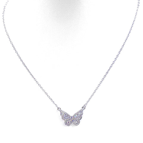 Fly Butter-Fly Silver Necklace