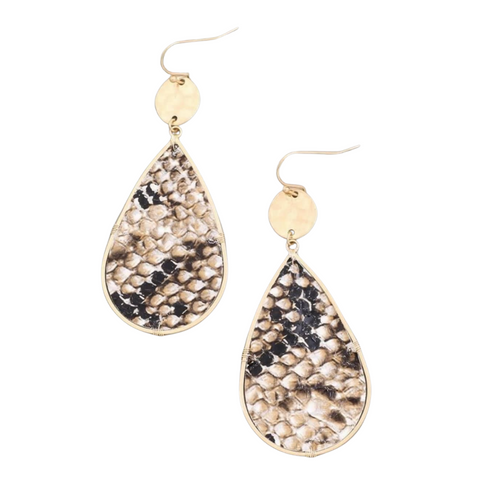 Scale to the Top - Gold Earrings